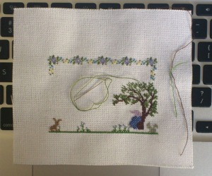 Cross stitch progress